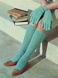 Set Hi Mm Cardigan Merah ravelry glove and knee hi sock set pattern by