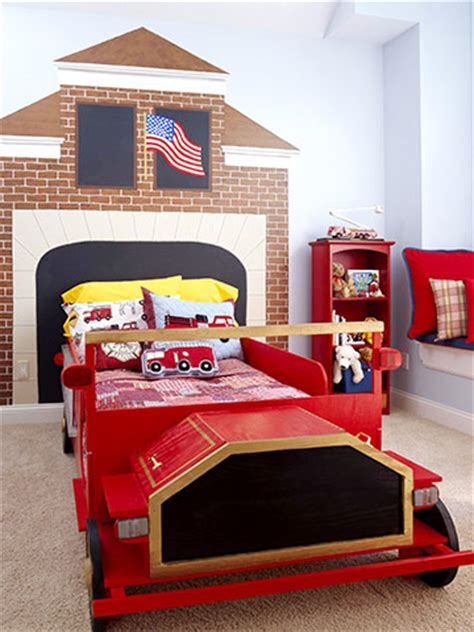 fire truck bedroom ideas picture of kids fire truck themed headboard