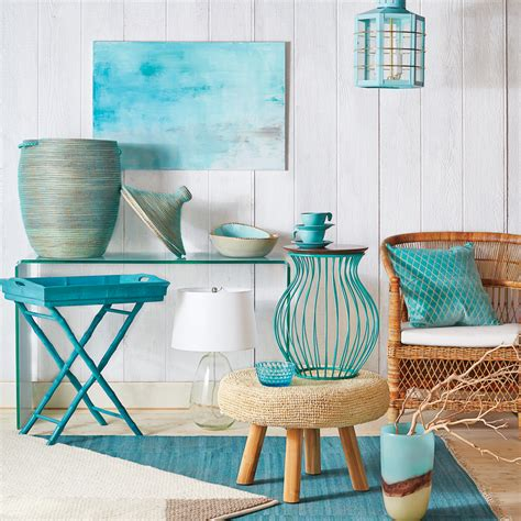cheap beach home decor must have turquoise decor coastal living