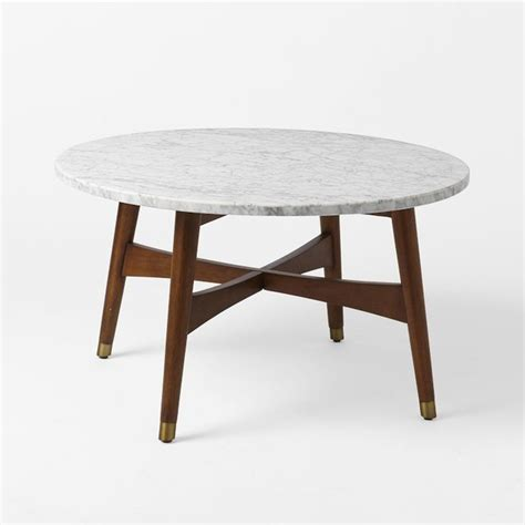 West Elm Mid Century Coffee Table Reeve Midcentury Coffee Table Marble Walnut Midcentury Coffee Tables By West Elm