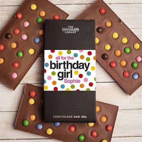 happy birthday personalised chocolate bar by quirky gift