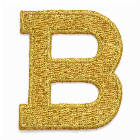 gold alphabet letter iron on patch applique 1 quot joyce