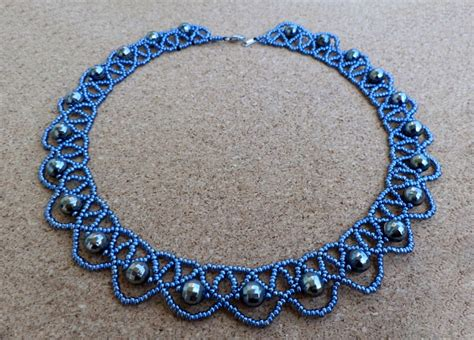 necklace pattern pinterest free pattern for beaded necklace blue night beads magic