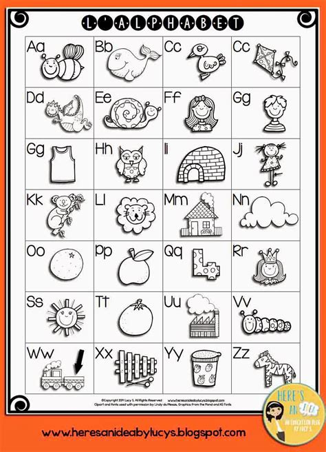 Letter Chart here s an idea i m in a mood free b w alphabet