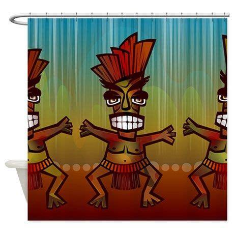 guy shower curtains tiki men shower curtain on cafepress com rv pinterest