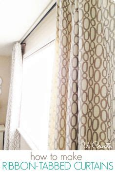 how to make curtains for beginners ribbon tabbed curtain tutorial ucreate combine this