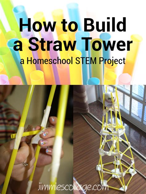 How To Make A Tower With One Of Paper - how to build a straw tower homeschool stem project
