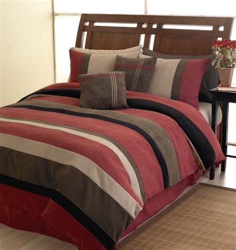 micro suede comforter brick red jacaranda striped microsuede luxury duvet