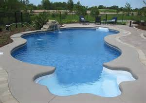 in ground pools swimming pool waterfalls inground fonthill st catharines swimming pool
