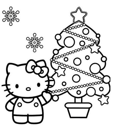 christmas coloring pages kitty cats and kittens kitten christmas coloring page