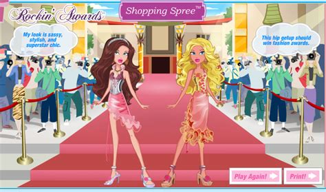 play pink celebrity dress up games images barbie shopping spree games best games resource