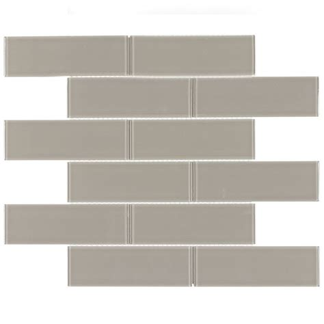 Glass Tile For Kitchen Backsplash Glass Subway Tile Metropole Taupe 2x6 Kitchen Backsplash