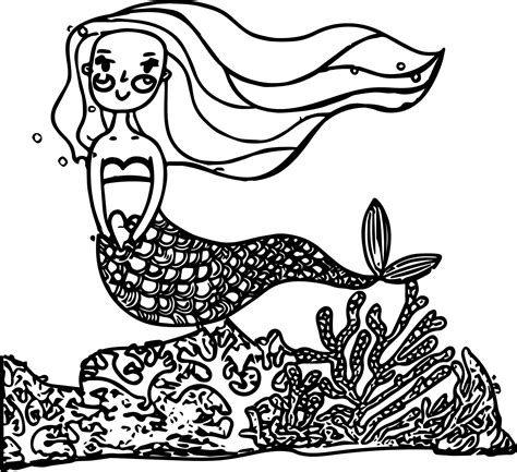 underwater mermaid coloring pages cartoon mermaid princess beautiful underwater world