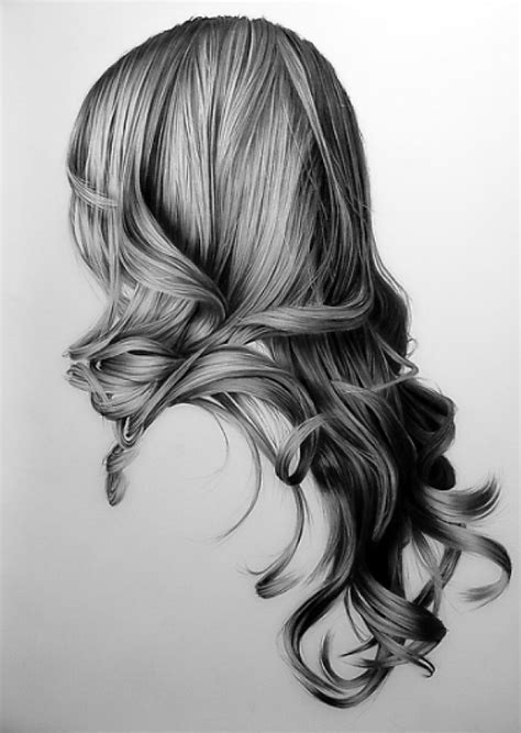wavy hairstyles drawing amazing pencil drawings of hair fine art blogger