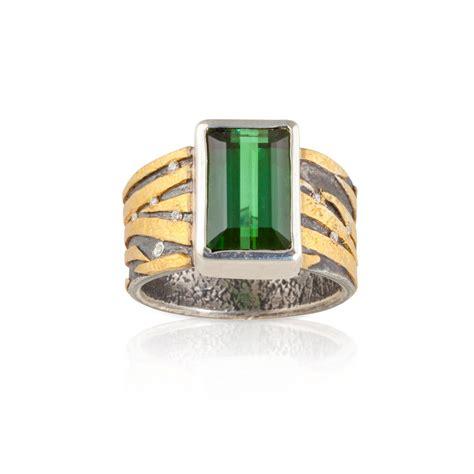 emerald cut tourmaline ring colored gemstones jewelry