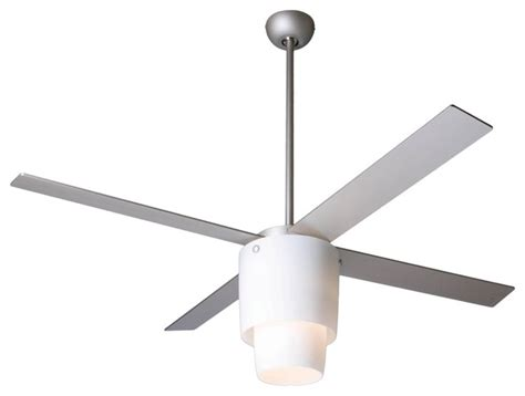 contemporary ceiling fan with light 52 quot modern fan halo nickel opal light ceiling fan