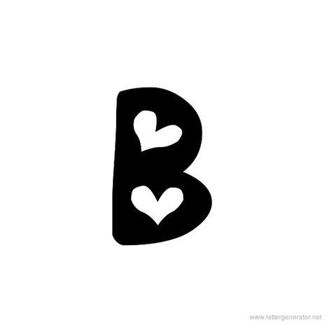 letter b typography alphabet gallery free printable alphabets letter generator net