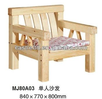 Sofa Kayu Solid Solid Pine Wood Single Seat Sofa With Fabric Covered Chair Buy Pine Wood Sofa Wooden Sofa Pine