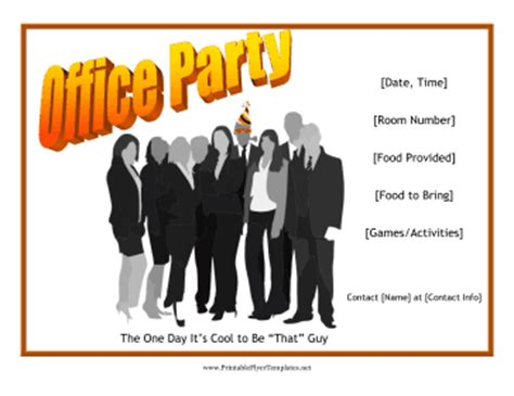 Office Party Flyer Office Flyer Templates