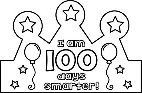 100th day hat template 100th day crown