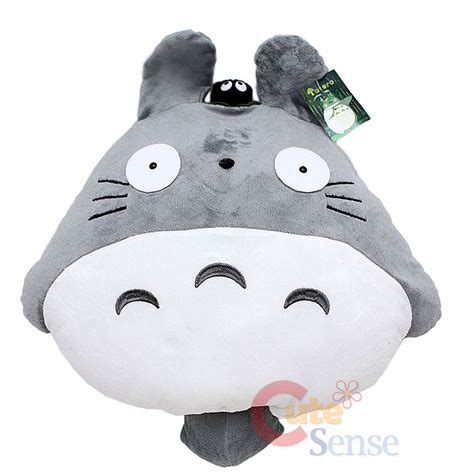 Totoro Pillow by Grey Totoro Plush Doll Cushion Pillow W Dust Bunny 20 Quot Ebay