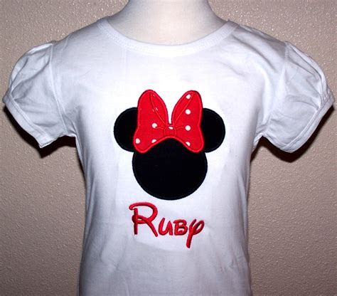 Personalized Shirts Home Minnie Mouse Personalized Minnie Mouse Shirt