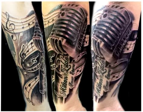 microphone tattoo thumb microphone tattoo by bauhaustattoo on deviantart