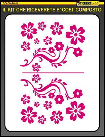 adesivi fiori per auto kit adesivi fiori mod 9 smart fiat 500 opel adam auto