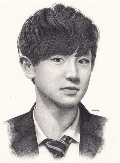 sketchbook exo chanyeol by denitsed on deviantart