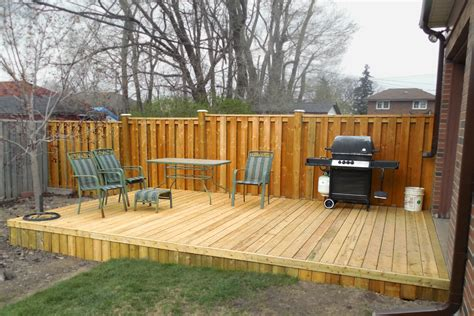 build small deck platform american hwy
