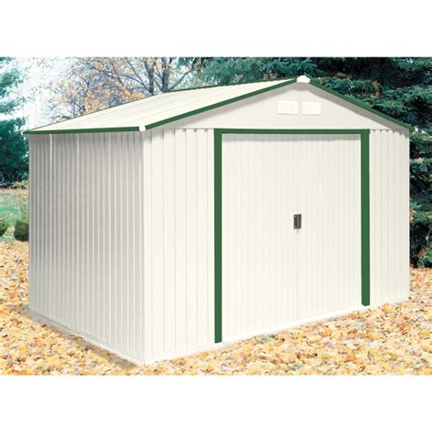 duramax  colossus metal shed  foundation