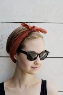 how to wear bandanas with bob hairstyles 1000 id 233 es sur le th 232 me headband short hair sur pinterest