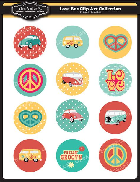 printable round sticker paper love bus 2 inch round printable circles for stickers by