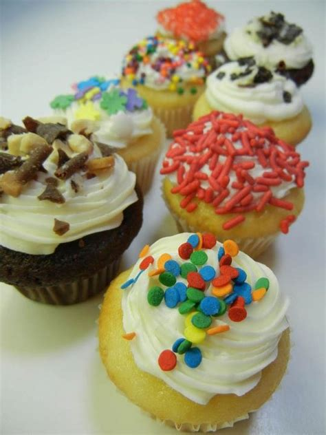 mini cupcakes different toppings ronna s cakes pinterest