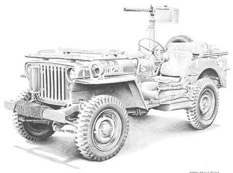 jeep drawing easy free coloring pages of jeep willys mb