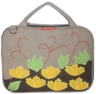 Kain Kanvas Motif Hello gardenia tas laptop gaul 10 inch tas laptop gaul