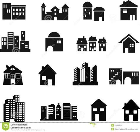 Cottage Floor Plans Free icone di architettura fotografie stock libere da diritti