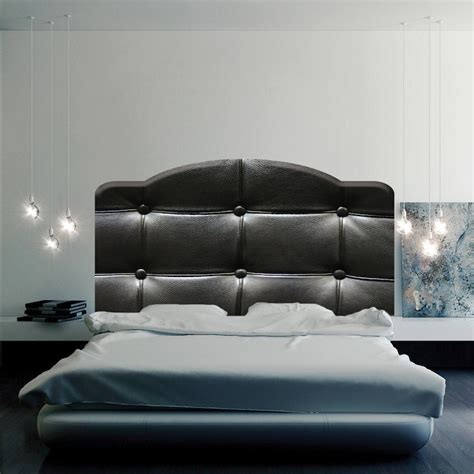Wall Decal Headboards by Black Cushion Headboard Mural Decal Headboard Wall Decal