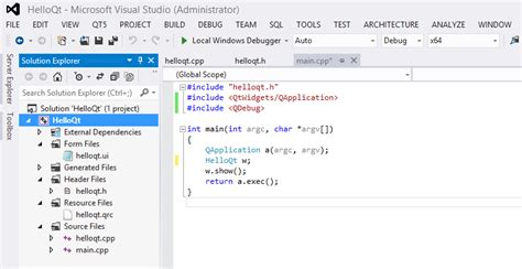 tutorial qt5 c qt5 tutorial visual studio add in for qt5 2016