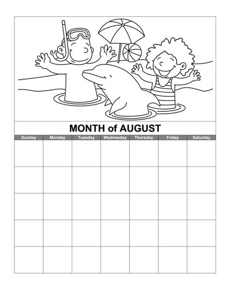 download august calendar printable calendar for word 2007