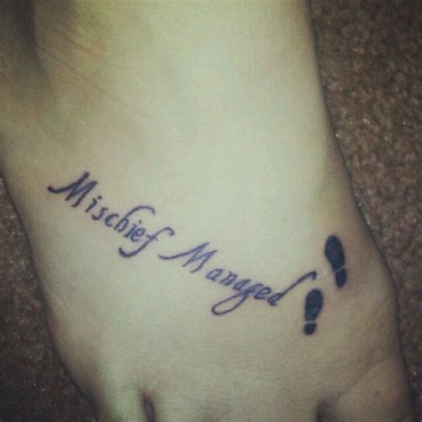 mischief tattoo mischief managed it