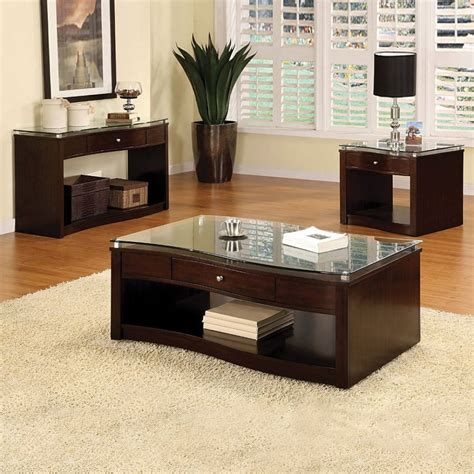 walnut coffee and end table set contemporary living room style ideas with walnut