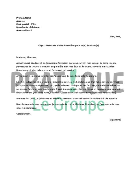 Exemple De Lettre De Demande De ã Tudiant Application Letter Sle Exemple De Lettre De Demande Financiere