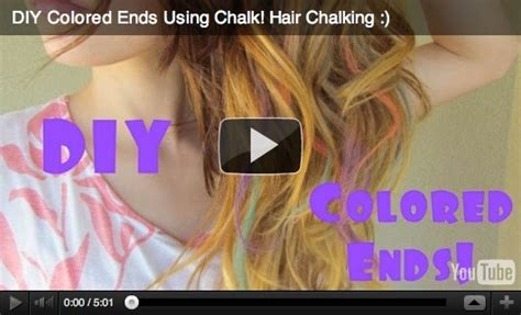 hair chalking a new look at diy hair color stylenoted diy hair chalking fab fatale