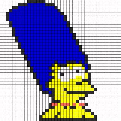 Marge Lego Bracelet marge perler bead pattern bead sprites