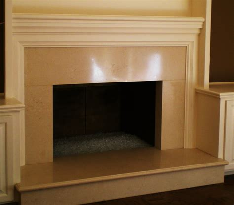 decorative painting marin county limestone fireplace - Fireplace Finishes