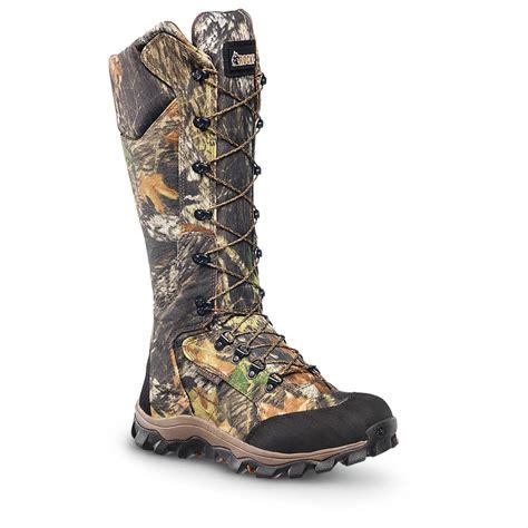 snake boots rocky 16 quot lynx waterproof snake boots mossy oak up