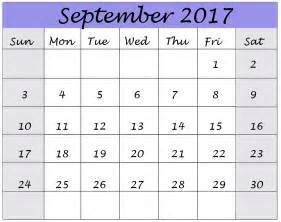 Calendar 2017 Monthly September 2017 Calendar Monthly Calendar Template Letter