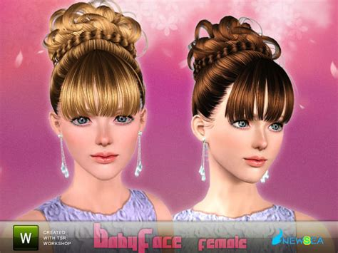 sims 3 free hairstyle downloads the sims 3 braided crown chignon hairstyle baby face by newsea