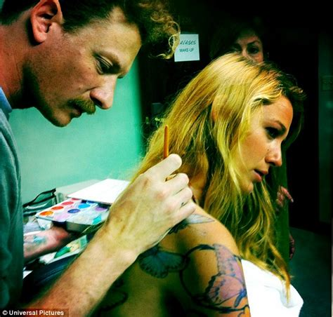 blake lively tattoo lively gets bloody in stills from savages